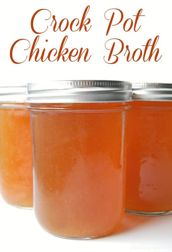 Yes! Make chicken broth in your crock pot! No worrying about a pot on the stove. Just turn it on and walk away! Super easy to make and will save tons of money too! #crockpot #chickenbroth #homemade #broth #bonebroth #realfood
