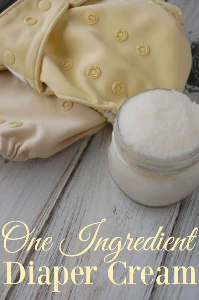 One Ingredient Diaper Cream - You can't get any easier than one ingredient! This is the world's easiest diaper cream and it's still super effective!