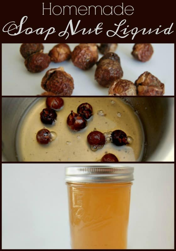 Homemade Soap Nut Liquid - Make your own soap nut liquid! No need to search for that soap nut bag or buy the expensive pre-made soap nut liquid!