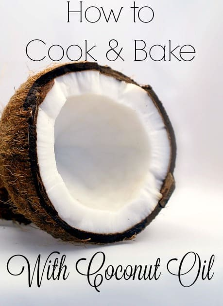 Coconut oil is a unique oil with its ability to be either a solid or a liquid depending on how warm it is. However, because of this characteristic you can use it as a substitute in almost everything. Learn how to cook and bake with coconut oil! #coconutoil #cooking #baking #healthyfats #realfood #coconut