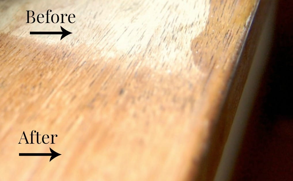 Natural Wood Cleaner and Restorer Before and After