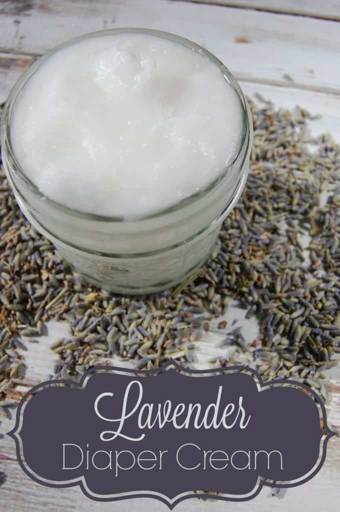Making your own lavender diaper cream is not hard to do! Just two ingredients and a couple seconds of your time is all you need to make this great natural diaper cream!