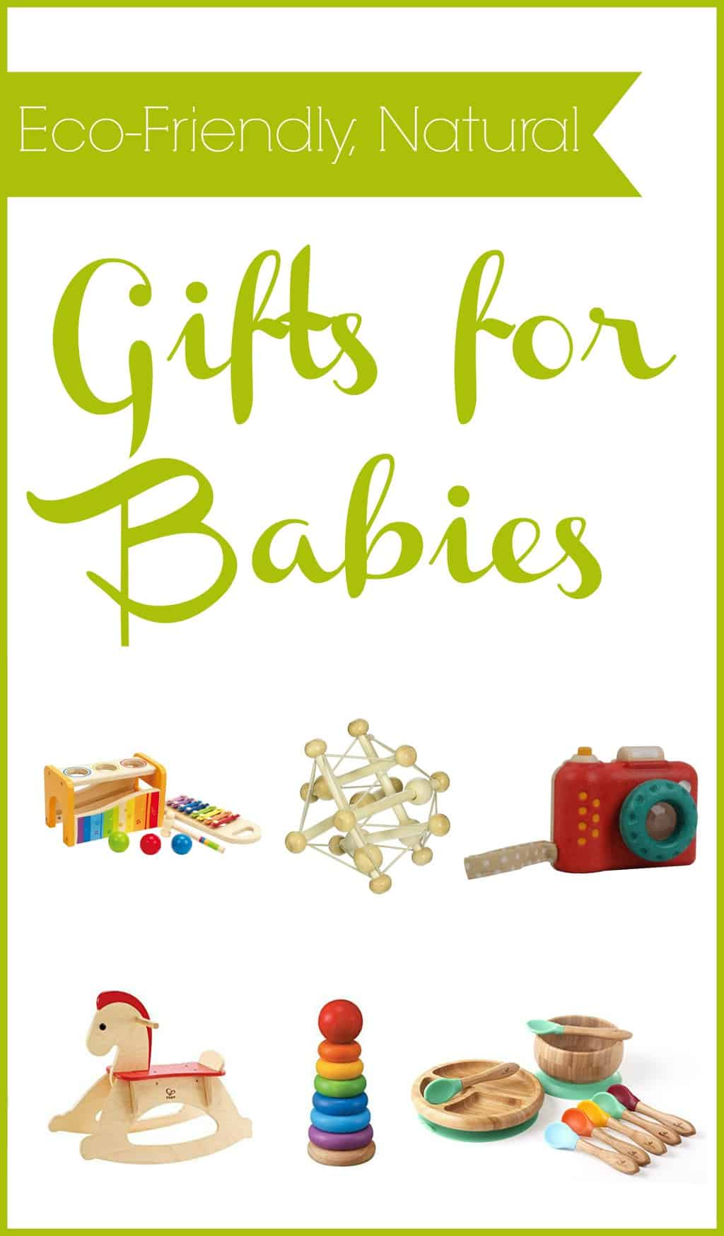 Eco-friendly, Natural Gifts for Babies - great gift natural gift ideas for the babies. No toxins here.