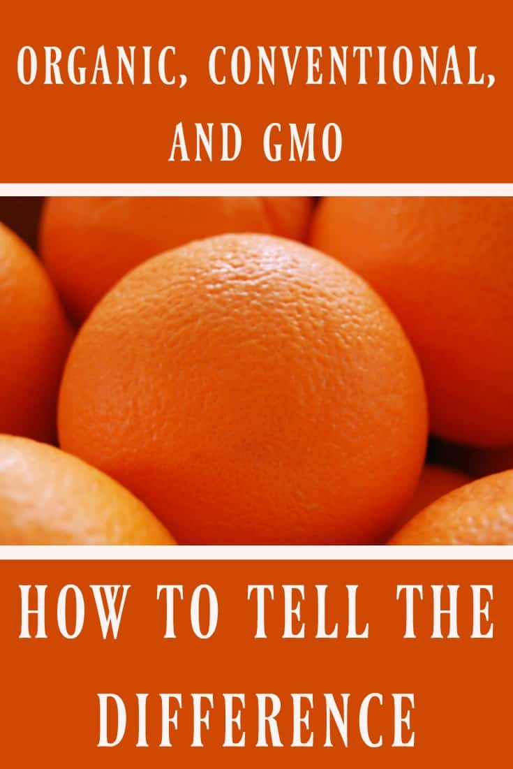 How to Tell The Difference BetweenOrganic, Conventional, and GMO Produce #organic #gmo #produce #labels #readinglabels