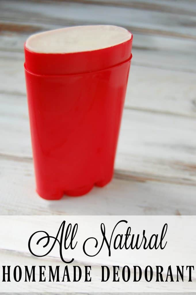 Make this all natural homemade deodorant and you won't have to worry about toxic ingredients! Just 3 ingredients in this easy to make diy deodorant! #deodorant #naturalskincare #diy #natural #nontoxic #coconutoil #diy