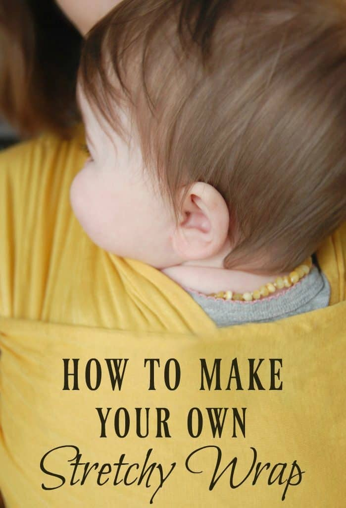 Learn how to make your own stretchy wrap so that you can babywear for a fraction of the cost! #stretchywrap #babywear #babywearing #diy #nosew #makeyourown