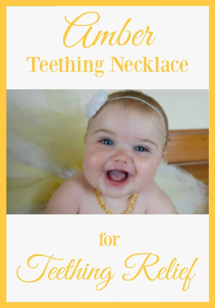 Amber Teething Necklace for Teething Relief - Who knew a necklace would bring better teething pain relief than any gel, drug, or tablet!