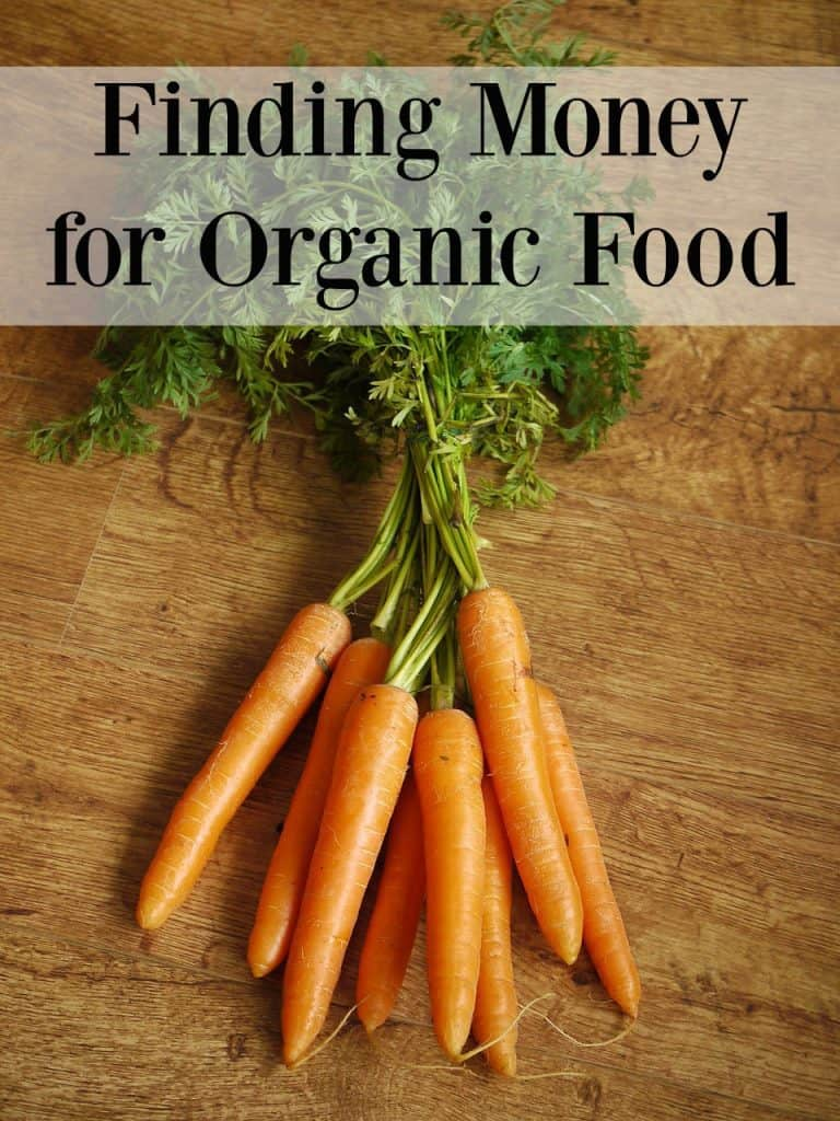 Finding Money for Organic Food - Having a hard time finding money for organic food? Feel like you can't afford organics on your budget? Learn how to afford organic food! #organic #budget #healthyeating