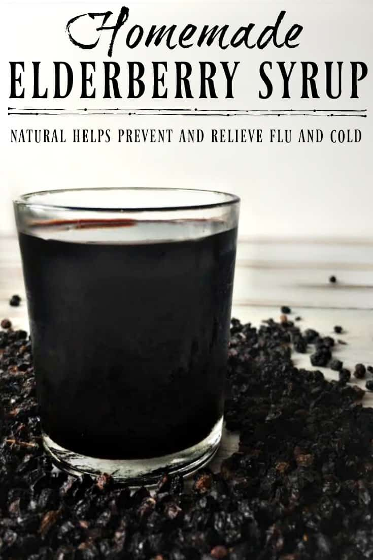This Homemade Elderberry Syrup is great for preventing colds and flu but it's also helpful for recovering if you do get sick! Make your own elderberry syrup and save over $15 per batch! #elderberry #elderberrysyrup #flu #fluremedies #naturalremedies #howtomake #fluseason #herbalremedies #diy #natural #simple