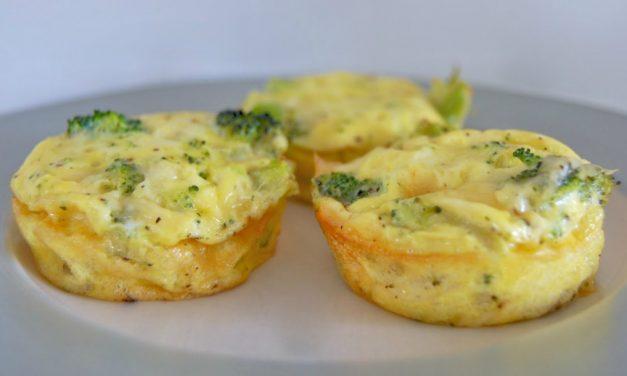 Broccoli and Cheese Mini Quiches