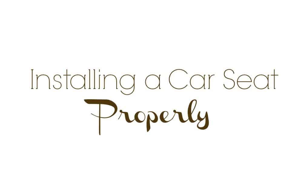 Crash Course: Installing a Car Seat Properly