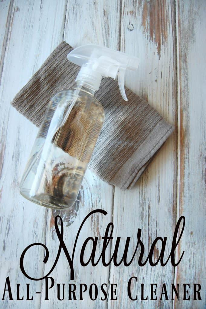 Natural All-Purpose Cleaner - I love products that have multiple uses and that is why I love a good all-purpose cleaner. One bottle to clean almost every surface in my house. It's even greater when that bottle is a natural all-purpose cleaner! #allpurpose #cleaner #natural #greencleaning #cleaning