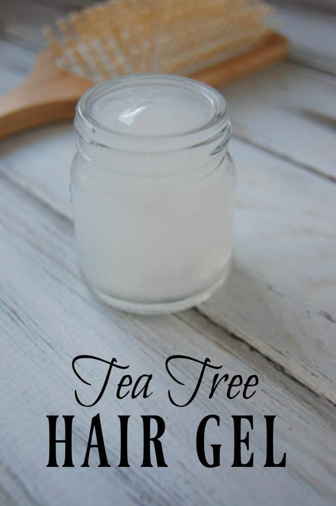With this Tea Tree Hair Gel, you not only avoid harmful ingredients but supply beneficial ingredients to your hair! #hairgel #naturalhaircare #gelatin #teatree #greenbeauty #haircare