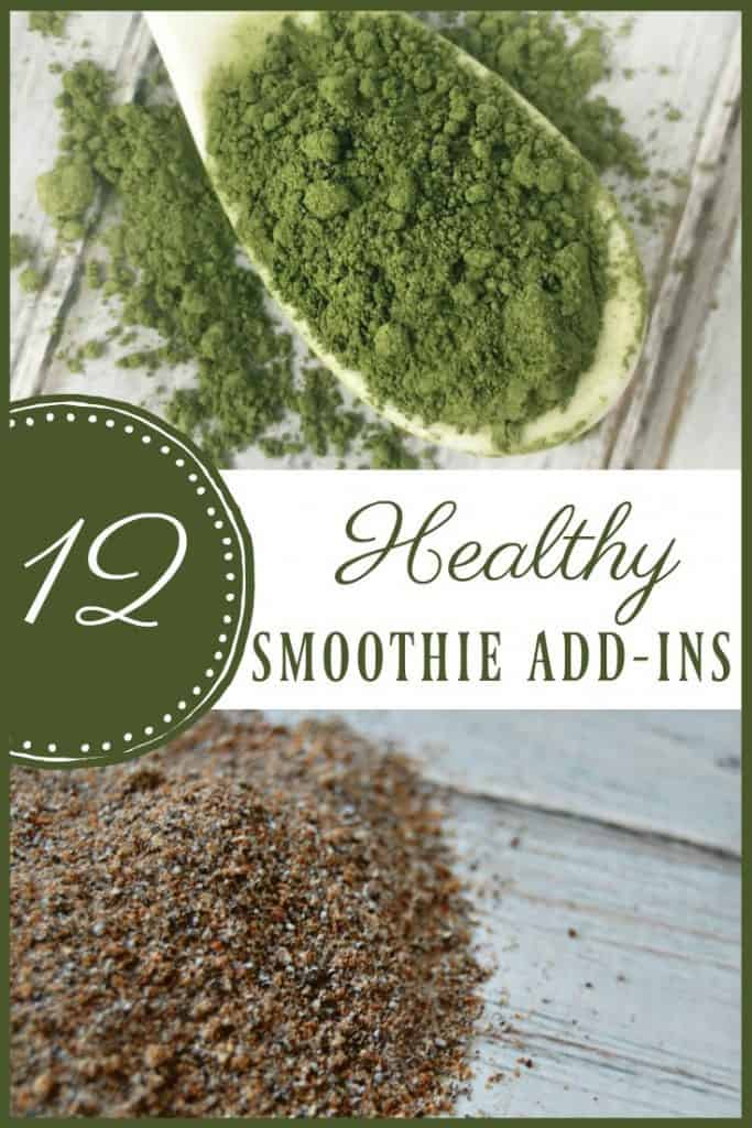 Smoothies are a great way of adding in things that you wouldn't normally consume on a daily basis. From adding healthy fats, to sneaking in veggies, to adding spices that help your body, here are 12 healthy smoothie add-ins you should try! #smoothies #addins #superfoods #healthyfood
