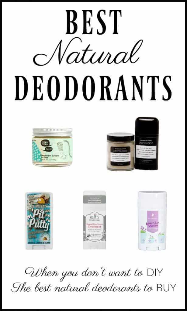 Not the DIY deodorant type? Need a non-toxic and safe deodorant that you can BUY? Here are some of the best natural deodorants that you can buy! #deodorant #natural #nontoxic #greenbeauty #skincare