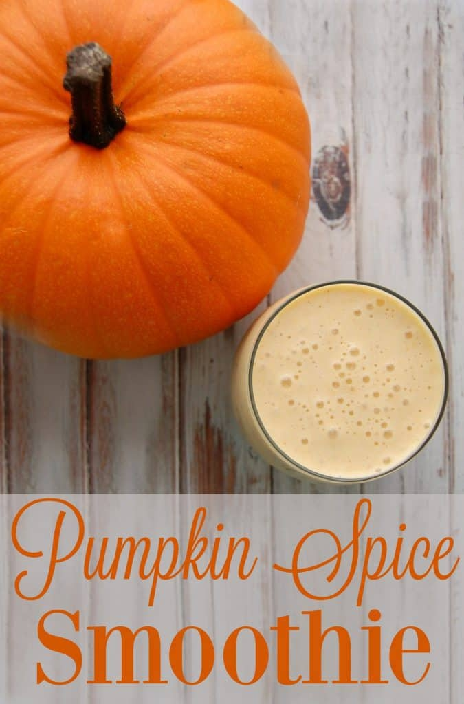 Pumpkin Spice Smoothie - This smoothie is a glass of fall loveliness that you must try for yourself! This recipe makes enough for two nice size glasses so you can even share this great smoothie….or have two glasses all for yourself. #pumpkin #pumpkinspice #smoothie #fall #falldrinks #healthysmoothie
