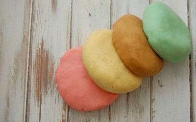 Homemade Playdough With Natural Colors