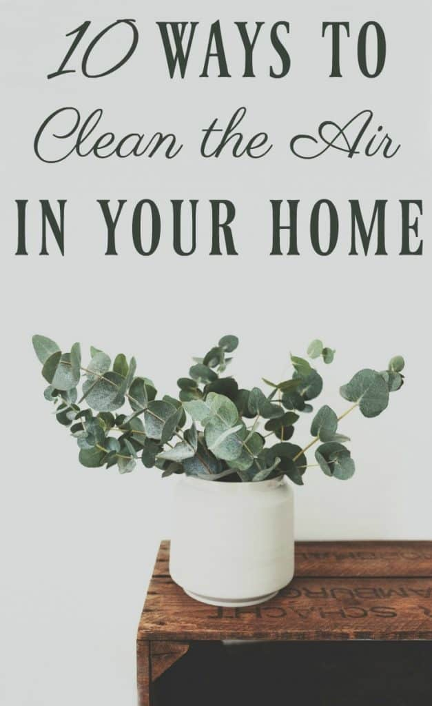 Indoor air can be 2-5 times worse than outdoor air. Yikes! Here are 10 ways to clean the air in your home naturally so you can start living better. #indoorair #home #houseplants #clean #naturalcleaning