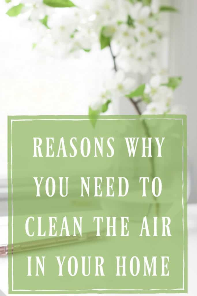 We tend to think that the air inside our home is healthier than the air outside but it's not! Learn the reasons why you need to clean the air in your home! #home #natural #indoors #airquality #clean