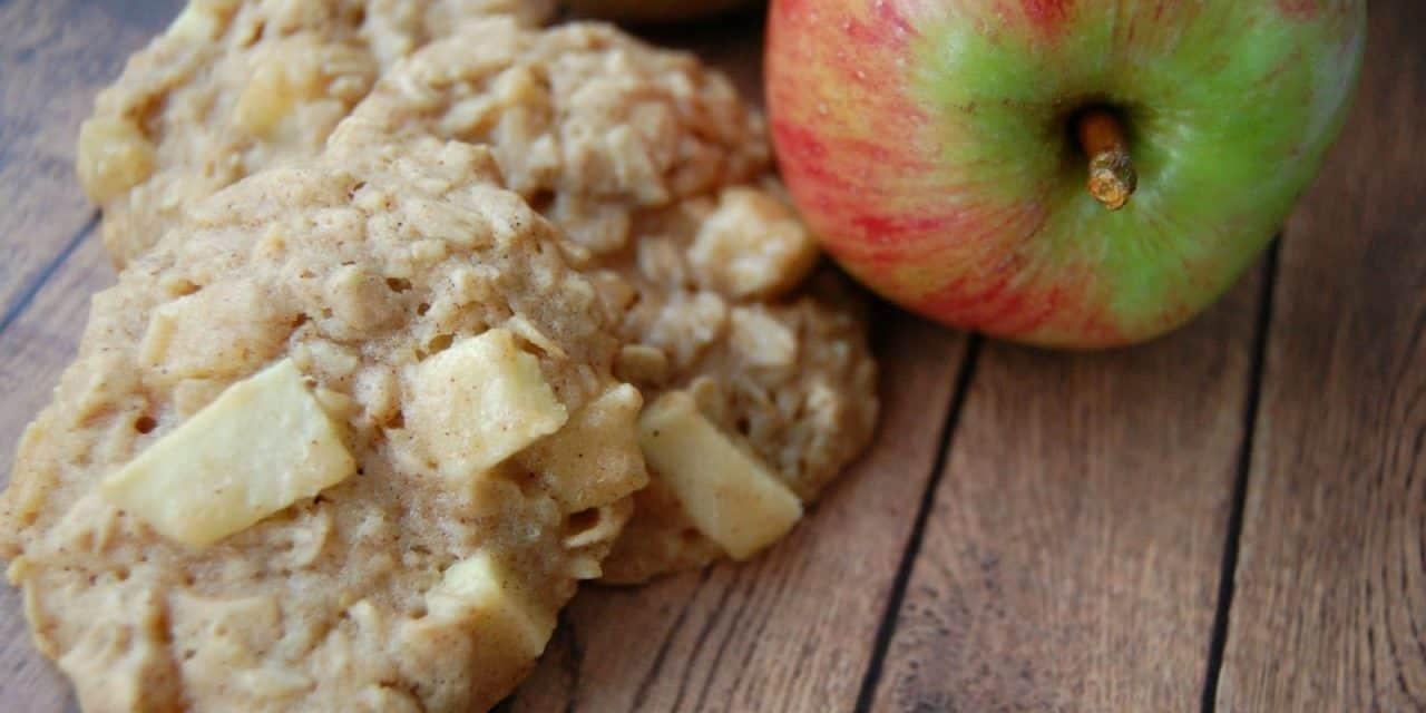 Honey Apple Oatmeal Cookies