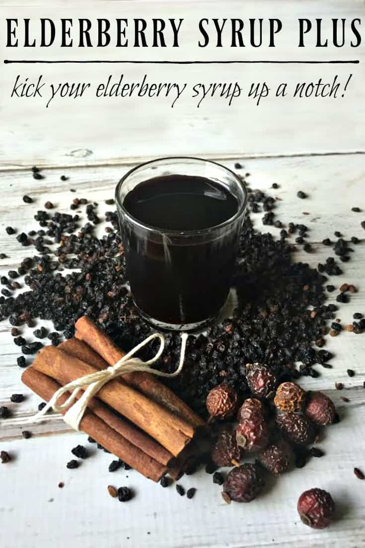 Now plain jane elderberry syrup is wonderful, don't get me wrong but you can make a good thing even better just by adding a few more ingredients. We are taking elderberry syrup and turning it into elderberry syrup plus! A must have for cold and flu season! #elderberrysyrup #immunebooster #flu #flufighter #naturalremedies #elderberry #herbalremedies