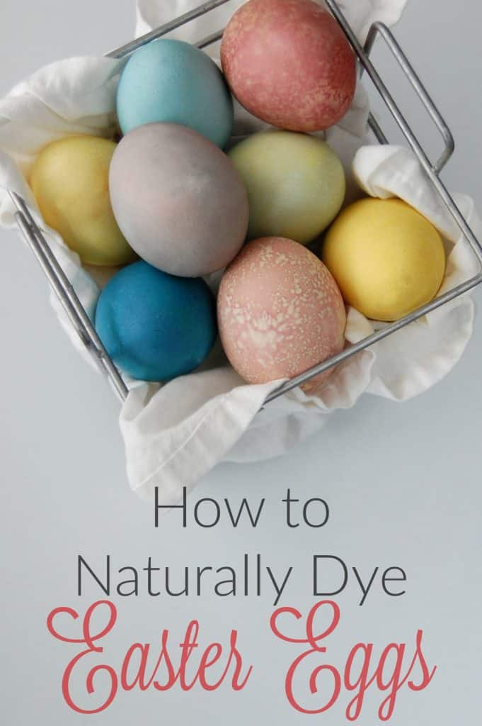 Awesome post on how to dye eggs naturally! Love that this one uses just 3 dyes (instead of a bunch which just means more dyes to make!) but you still get lots of colors!