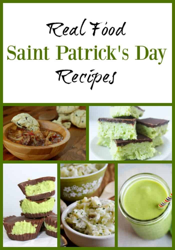 Real Food Saint Patrick's Day Recipes - recipes for Saint Patrick's Day that are either traditional dishes or naturally dyed green! #realfood #saintpatricksday #stpattys #march #dyefree