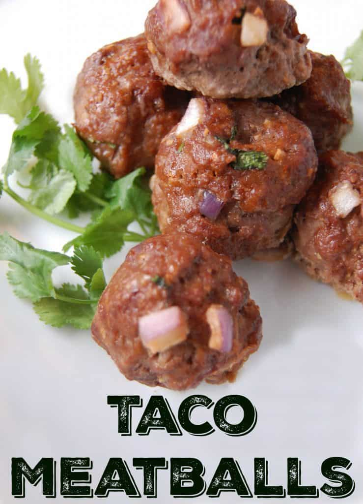 Taco Meatballs - Grain Free! These meatballs are amazing! Great new spin on the classic meatball and there are no grains so it's perfect for anyone who is gluten-free, grain-free, paleo, etc!