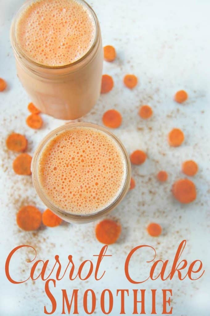 Carrot Cake Smoothie - Smoothies are a great way to get lots of healthy food into your (or your kid's) diet. This carrot cake smoothie is no exception. Don't let the name fool you; this smoothie is all of the good in carrot cake but without all the unhealthy parts.
