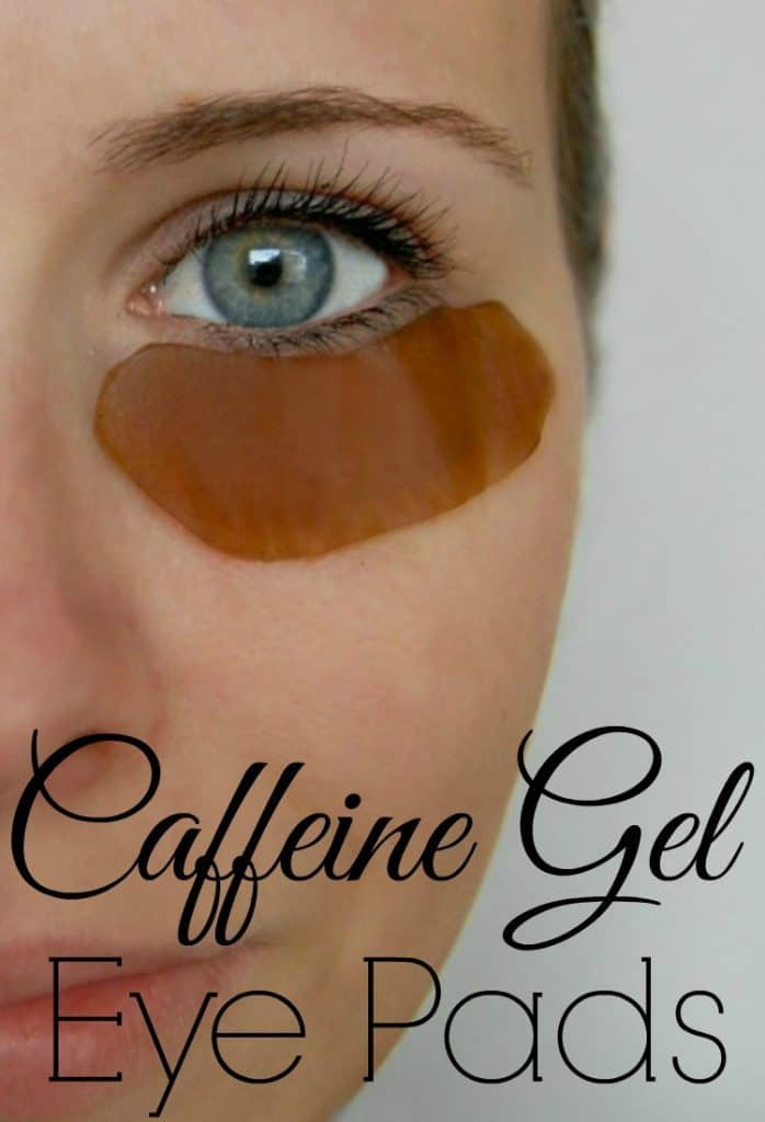 Caffeine Gel Eye Pads - Make your own gel eye pads at home! These ones contain caffeine which is amazing at waking up your eyes, reducing dark circles, and diminishing red, puffy eyes. #caffeine #eyepads #diyskincare #puffyeyes #darkcircles #greenbeauty