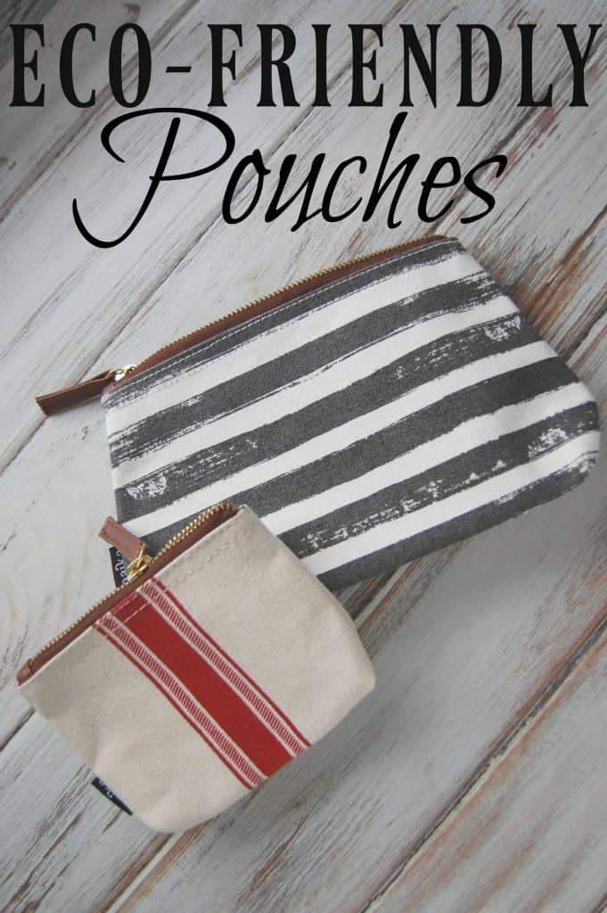 These eco-friendly pouches are stylish and nice on the environment. You'll want to collect all of these pouches in all the sizes!