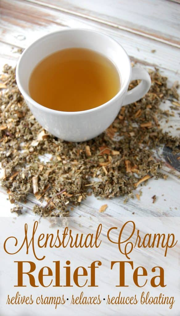 Menstrual Cramp Relief Tea - Make this tea blend ahead of time so that when you do get your period, you're ready with this cramp relieving, bloat reducing, relaxing tea! #pms #cramps #femininecare #womenhealth #naturalremedies #herbalremedies