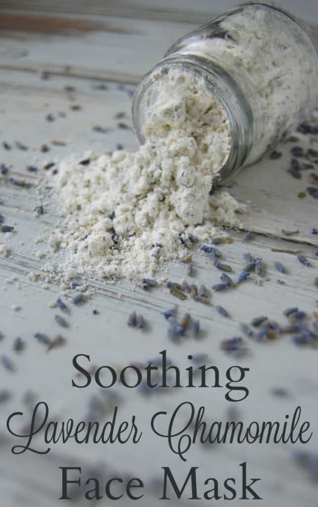 The weather, the beauty products, the dirt and grim of our daily lives can really take a toll on your face. A great way to calm down your face is with this soothing lavender chamomile face mask! #lavender #chamomile #facemask #herbal #natural #diy