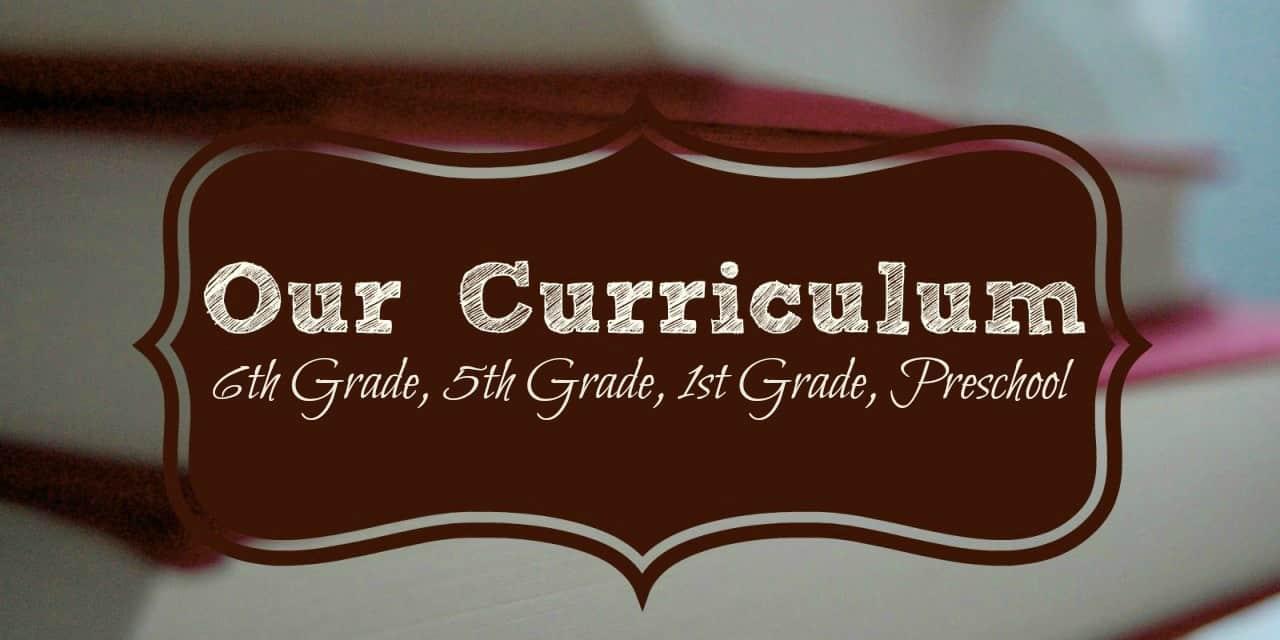 Homeschool Curriculum 2017-2018