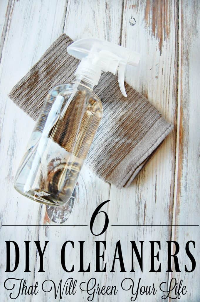 Ready to see how easy cleaning your home can be with natural cleaners? Check out these 6 DIY Cleaners That Will Green Your Life! #diy #cleaners #natural #greencleaning #naturalliving