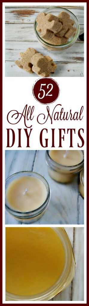 These all natural DIY gifts are usually more affordable since they often involve ingredients that you already own and most of them are made in minutes which is great if you find yourself down to the last minute and you need a gift now! DIY gifts for women, men, the home, and diy edible gifts!