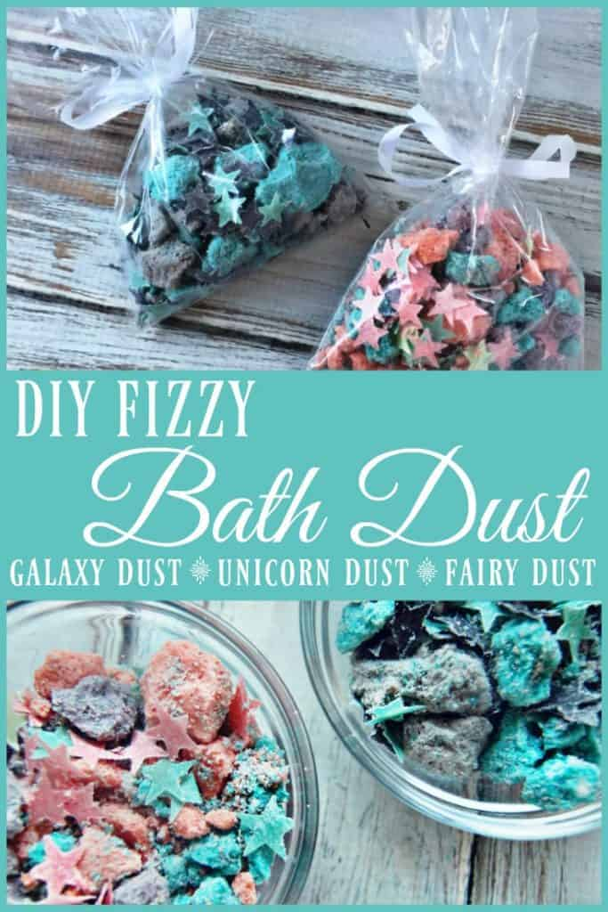 Are you ready to make your children squeal with delight? Are you ready to thrill your unicorn obsessed friends? Check out this DIY fizzy bath dust aka.... Fizzy Unicorn Dust or Fizzy Galaxy Dust or Fizzy Fairy Dust (you can really name it whatever you want or just go with plain jane Fizzy Bath Dust but personally Unicorn, Galaxy, and Fairy dust are the favorites). #bathbombs #bath #kids #skincare #unicorn #fairy #bathfizzies