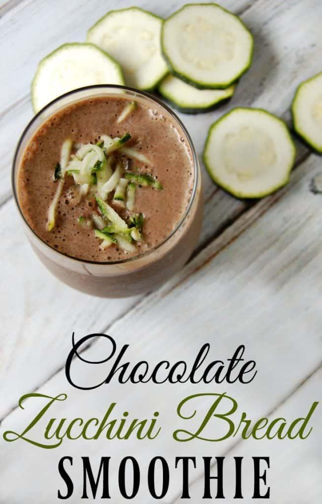 chocolate zucchini smoothie
