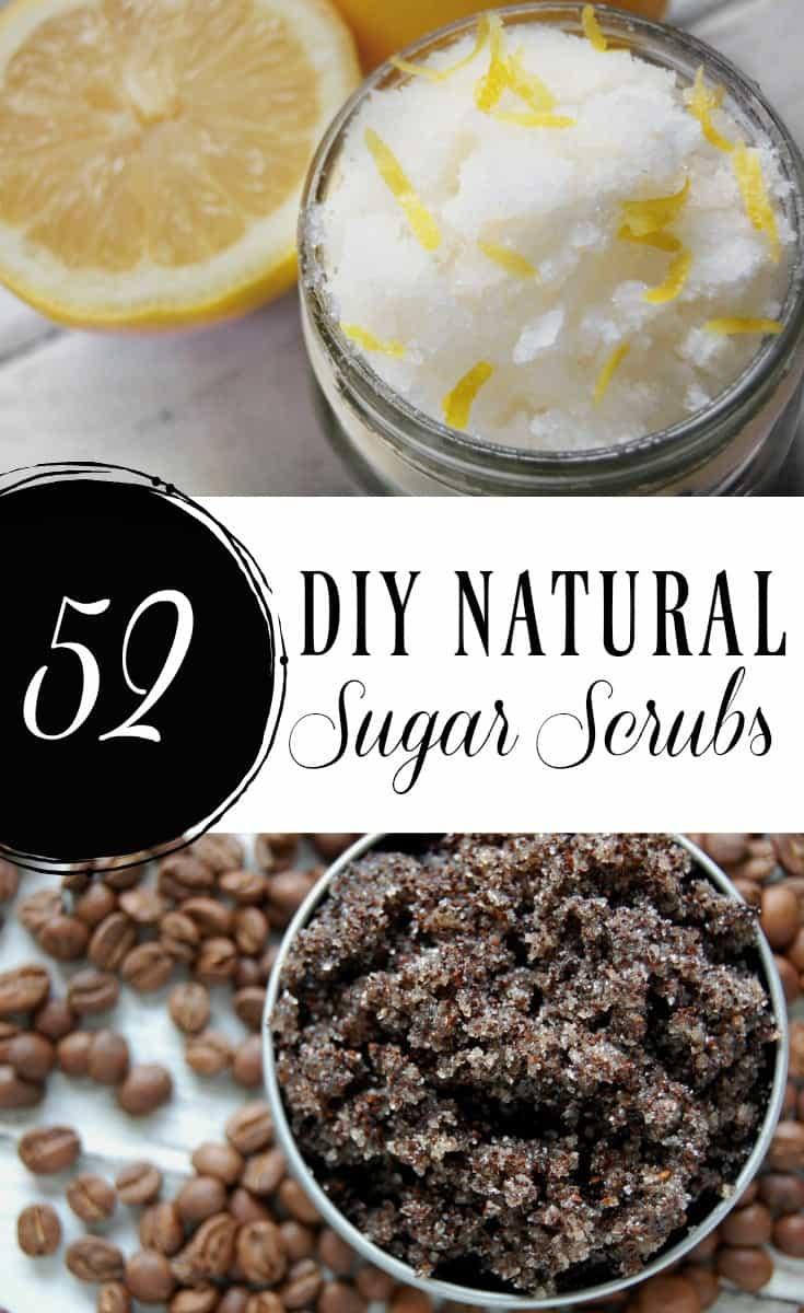 52 DIY Natural Sugar Scrubs