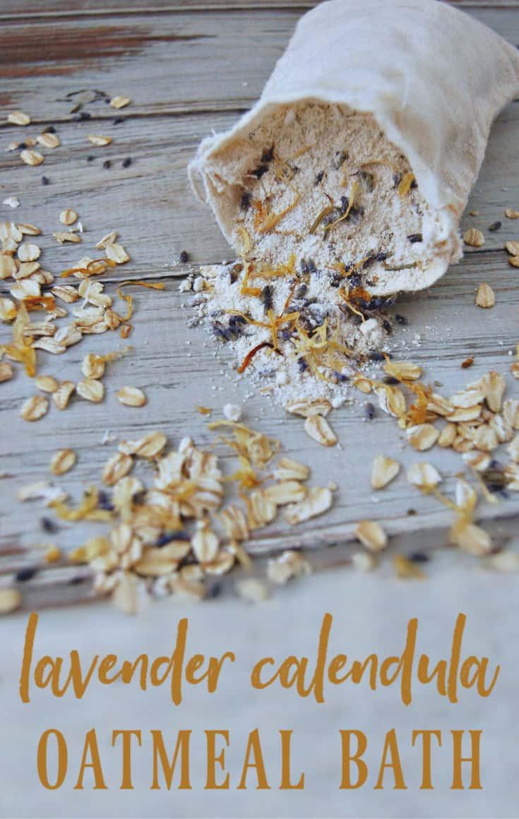 Lavender Calendula Oatmeal Bath