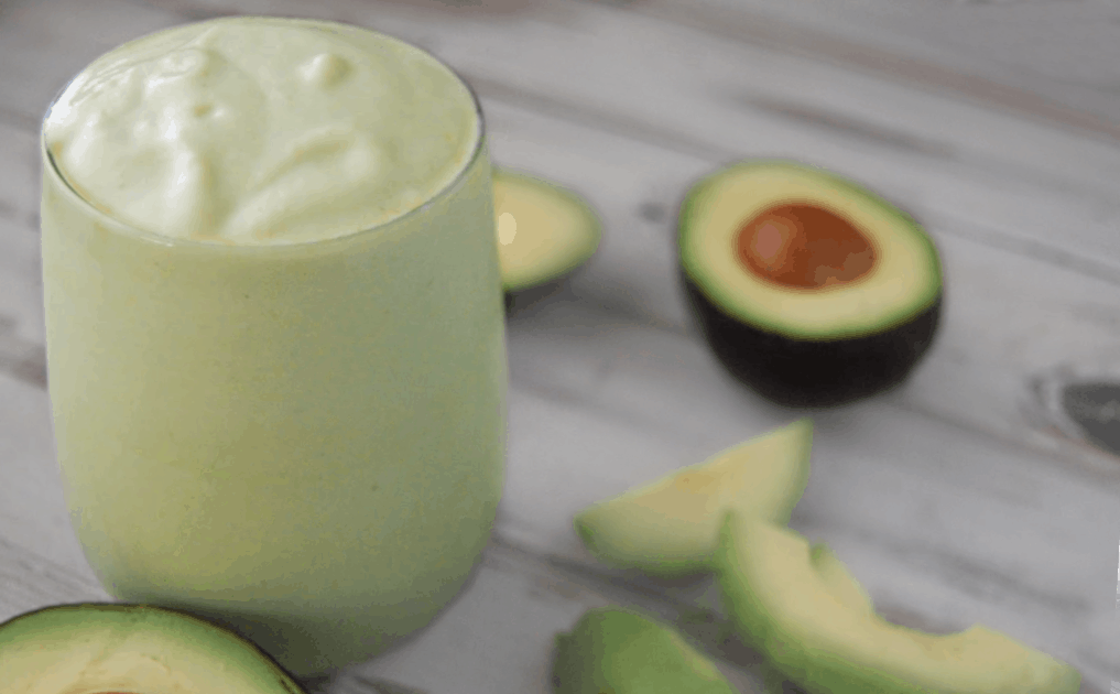 avocado mint smoothie