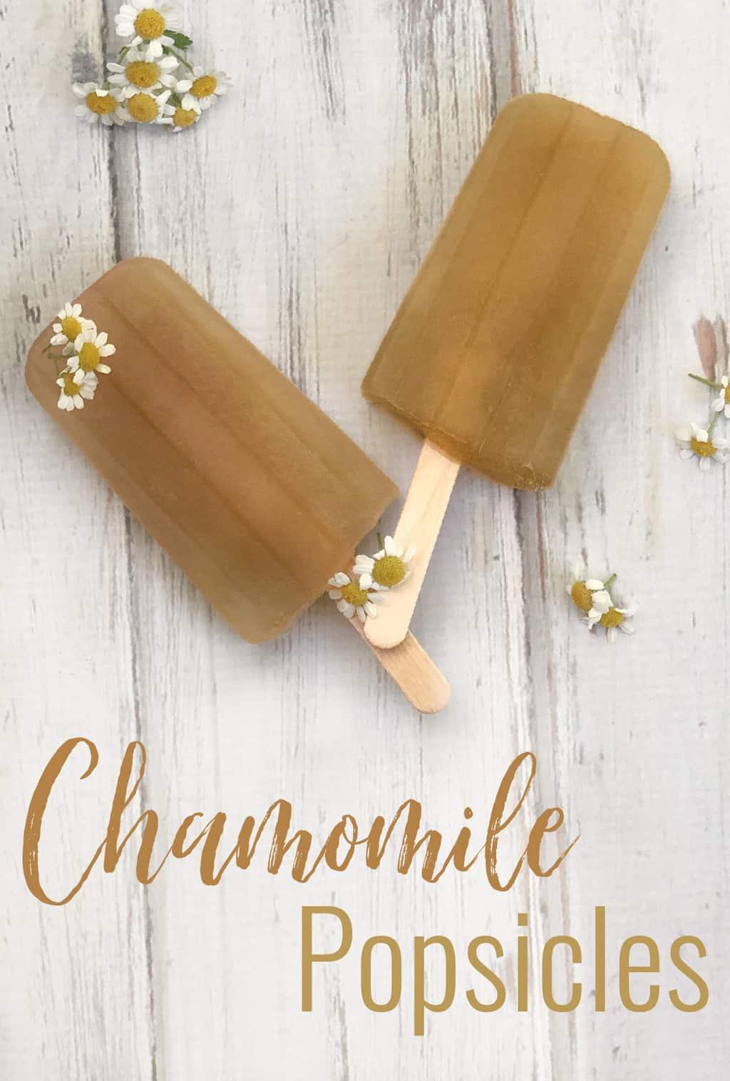 chamomile popsicles